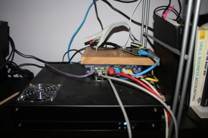 In action, RasPi powered straight from the PSU.